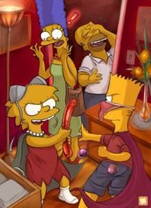 #pic135406: Bart Simpson – Homer Simpson – Lisa Simpson – Marge Simpson – Orange Box – The Simpsons