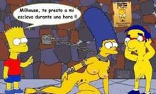#pic855951: Bart Simpson – Marge Simpson – Milhouse Van Houten – The Simpsons