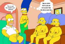 #pic305500: Homer Simpson – Marge Simpson – Patty Bouvier – Selma Bouvier – The Simpsons – animated