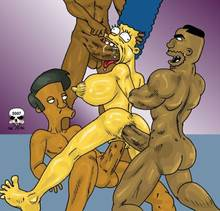 #pic252412: Apu Nahasapeemapetilon – Drederick Tatum – Marge Simpson – The Fear – The Simpsons