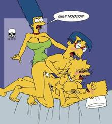 #pic133032: Bart Simpson – Lisa Simpson – Marge Simpson – Milhouse Van Houten – The Fear – The Simpsons