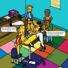 #pic133014: Bart Simpson – Milhouse Van Houten – Ms. Albright – The Simpsons – blargsnarf