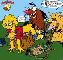 #pic132116: Angry Beavers – Daggett – Lisa Simpson – Norbert – The Simpsons – nev