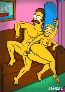 #pic1011536: Marge Simpson – Ned Flanders – The Simpsons – se&ntilde-or x