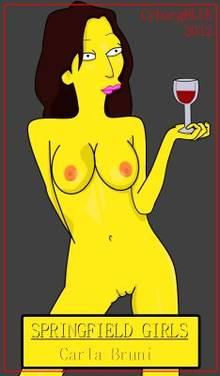 #pic1007084: Carla Bruni – CyborgBLUE – The Simpsons