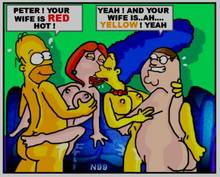 #pic839624: Family Guy – Homer Simpson – Lois Griffin – Marge Simpson – Peter Griffin – The Simpsons – necron99