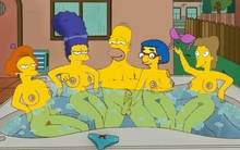 #pic895584: Edna Krabappel – Helen Lovejoy – Homer Simpson – Luann Van Houten – Marge Simpson – The Simpsons