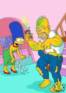 #pic893998: Homer Simpson – Hulk – Marge Simpson – The Simpsons – xl-toons