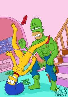 #pic893999: Homer Simpson – Hulk – Marge Simpson – The Simpsons – xl-toons