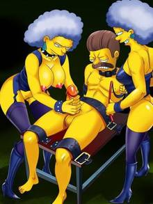 #pic893457: Ned Flanders – Patty Bouvier – Selma Bouvier – The Simpsons