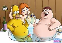 #pic890291: Family Guy – Homer Simpson – Lois Griffin – Peter Griffin – The Simpsons – Toon-Party