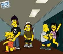#pic835193: Dolph Starbeam – Jessica Lovejoy – Jimbo Jones – Kearney Zzyzwicz – Lisa Simpson – The Simpsons – famous-toons-facial