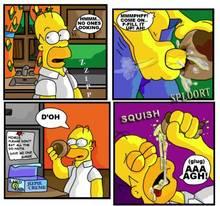 #pic831336: Homer Simpson – The Simpsons – comic – donut – necron99
