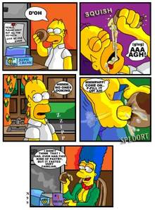 #pic831265: Homer Simpson – Marge Simpson – The Simpsons – comic – donut – necron99