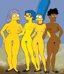 #pic1295183: Bernice Hibbert – HomerJySimpson – Luann Van Houten – Marge Simpson – Sarah Wiggum – The Simpsons – charity chicks