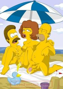 #pic408281: Homer Simpson – Maude Flanders – Ned Flanders – The Simpsons