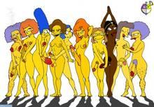 #pic408413: Edna Krabappel – Elizabeth Hoover – Helen Lovejoy – Lawgick – Luann Van Houten – Manjula Nahasapeemapetilon – Marge Simpson – Maude Flanders – Mindy Simmons – Ms. Albright – Patty Bouvier – Selma Bouvier – The Simpsons