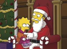 #pic407067: Christmas – Gil Gunderson – Lisa Simpson – Santa Claus – The Simpsons – animated – cosplay – helix – matt groening