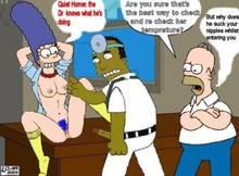 #pic395250: Homer Simpson – Julius Hibbert – Marge Simpson – The Simpsons