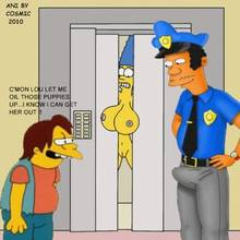 #pic577518: Cosmic – Lou – Marge Simpson – Nelson Muntz – The Simpsons – animated