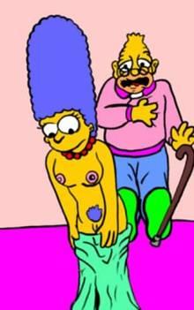 #pic252294: Abraham Simpson – Escoria – Marge Simpson – The Simpsons