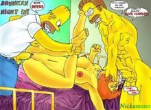 #pic250629: Homer Simpson – Maude Flanders – Ned Flanders – Nickamano – The Simpsons