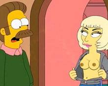 #pic1064856: Lady Gaga – Ned Flanders – The Simpsons