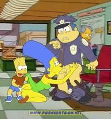 #pic727891: Bart Simpson – Chief Wiggum – Marge Simpson – PornCartoon – The Simpsons