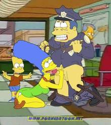 #pic727890: Bart Simpson – Chief Wiggum – Marge Simpson – PornCartoon – The Simpsons
