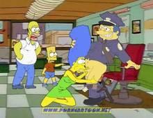 #pic727888: Bart Simpson – Chief Wiggum – Homer Simpson – Marge Simpson – PornCartoon – The Simpsons