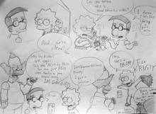 #pic781219: Bart Simpson – Krusty The Clown – Lisa Simpson – Milhouse Van Houten – Saviorsavor – The Simpsons