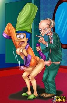 #pic777888: Marge Simpson – Montgomery Burns – The Simpsons – futa-toon