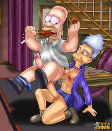 #pic777887: Agnes Skinner – Homer Simpson – The Simpsons – futa-toon