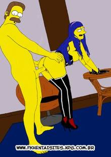 #pic758977: Marge Simpson – Ned Flanders – The Simpsons – walkers