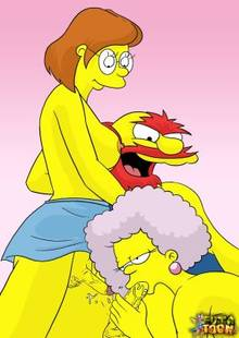 #pic746349: Elizabeth Hoover – Groundskeeper Willie – Selma Bouvier – The Simpsons – futa-toon