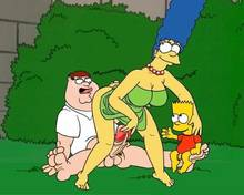 #pic744979: Bart Simpson – Family Guy – Marge Simpson – Peter Griffin – The Simpsons – crossover