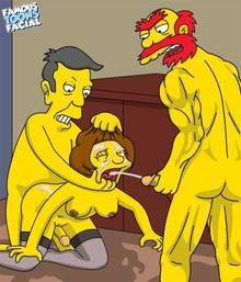 #pic741502: Edna Krabappel – Groundskeeper Willie – Seymour Skinner – The Simpsons – famous-toons-facial