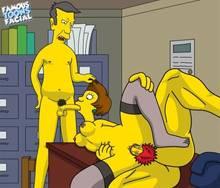 #pic741497: Edna Krabappel – Groundskeeper Willie – Seymour Skinner – The Simpsons – famous-toons-facial