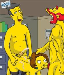 #pic741501: Edna Krabappel – Groundskeeper Willie – Seymour Skinner – The Simpsons – famous-toons-facial