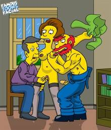#pic741495: Edna Krabappel – Groundskeeper Willie – Seymour Skinner – The Simpsons – famous-toons-facial