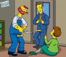 #pic741493: Edna Krabappel – Groundskeeper Willie – Seymour Skinner – The Simpsons – famous-toons-facial