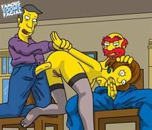 #pic741496: Edna Krabappel – Groundskeeper Willie – Seymour Skinner – The Simpsons – famous-toons-facial