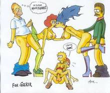 #pic651509: Abom – Homer Simpson – Lisa Simpson – Marge Simpson – Maude Flanders – Ned Flanders – Rod Flanders – The Simpsons