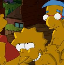 #pic1109287: Bart Simpson – Lisa Simpson – Milhouse Van Houten – NoRule – The Simpsons – animated
