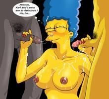 #pic1109182: Carl Carlson – Lenny Leonard – Marge Simpson – The Simpsons