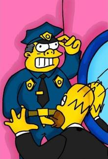 #pic723246: Chief Wiggum – Homer Simpson – The Simpsons