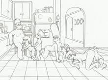 #pic1281895: Bart Simpson – Homer Simpson – Kongen – Lisa Simpson – Luann Van Houten – Marge Simpson – Milhouse Van Houten – Santa's Little Helper – The Simpsons