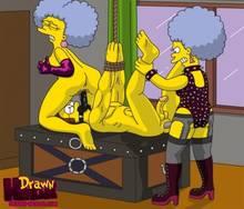 #pic680559: Drawn-Hentai – Ned Flanders – Patty Bouvier – Selma Bouvier – The Simpsons