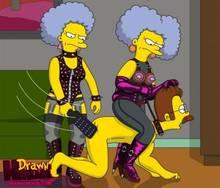 #pic680555: Drawn-Hentai – Ned Flanders – Patty Bouvier – Selma Bouvier – The Simpsons