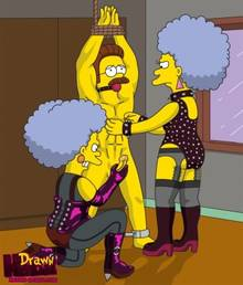 #pic680556: Drawn-Hentai – Ned Flanders – Patty Bouvier – Selma Bouvier – The Simpsons